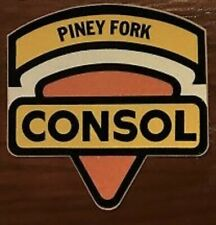 Piney Fork Consol Coal Mining Sticker Old Brown Back Lot-H99