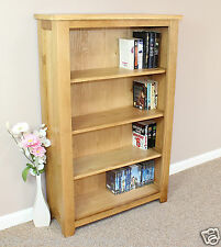 Oak Bookcase Display Storage DVD CD Books Adjustable Shelves