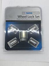 2014 2015 2016 2017 2018 Mazda 3 4dr / 5dr chrome wheel locks oem new !!