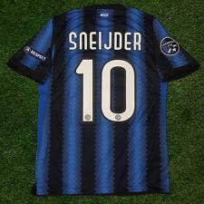 MAGLIA JERSEY INTER MILAN HOME 2010-11 TRIPLE CHAMPION UCL SNEIJDER UEFA10 TG L