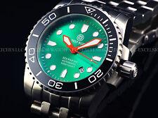 RARE Green Dial Lumed Ceramic Bezel Deep Blue LE #069 Sea Diver Automatic Watch