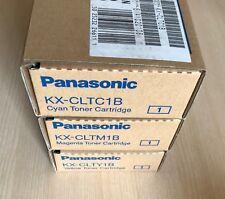 Genuine Panasonic toner KX-CLTY1B, KX-CLTC1B, KX-CLTCM1B for KX-CL500-Series
