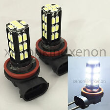 H11 Samsung LED 30 SMD Bright White 6000K Headlight 2x Light Bulbs #s1 Low Beam