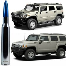 Chrome with Blue Tip 50 Cal Bullet Antenna for Hummer H2 and H3 Billet Aluminum