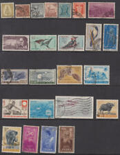 India 1950-70 used hi val selection 24 diff stamps cv $48.20