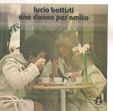 LUCIO BATTISTI - UNA DONNA PER AMICO -  SOLO COPERTINA - ONLY COVER - EX++