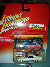 JOHNNY LIGHTNING MUSTANG & FORDS 1970 Ford Mustang Mach I White #6 in Series