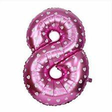 8 Nummer Pink Aufblasbar Luftballons Geburtstag Hochzeit Jubiläum Party Ballon