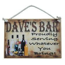 Country Printed Wooden Sign Personalized Bar Serving What You Bring Plaque
