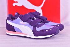 Youth Girl's Puma Cabana Racer Hook and Loop Sneakers Sweet Lavender Purple 2.5C