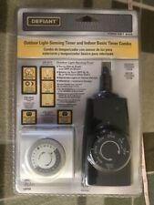 Defiant Outdoor Light-Sensing Timer & Indoor Basic Timer Combo NIB 1000 051 844