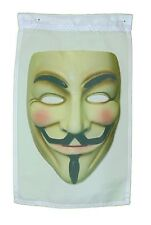 GUY FAWKES ANONYMOUS MASK GARDEN FLAG 12 X 18 INCHES SLEEVED