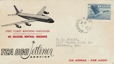 CANADA : TCA DC-8 JETLINER, MONTREAL TO VANCOUVER, FIRST FLIGHT COVER (1960)