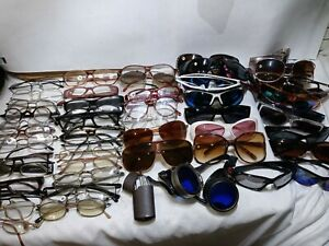 Vintage Lot  50+ Sunglasses eyeglass frame cases men's womens 80s 90s and today