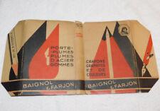 ancien PROTEGE couvre LIVRE BAIGNOL & FARJON manufacture nationale BOULOGNE MER