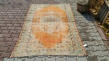 Oushak,5x8 feet Turkish Rug,Bohemian, anatolian Rug, Bohemian Vintage,Orange