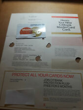 Citibank Master Card Credit Card 1983 Issue Date With Original Mailer
