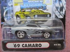 Muscle Machines '69 CAMARO BLUE  FLAMES 1:64 1969 CHEVROLET MM 02-22