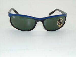 Ray Ban PREDATOR 2 RB 2027 6301 Blue on Black/G-15 Green 62mm Sunglasses