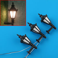 10pcs BD2 Model Railway Led Lamppost Lamps Wall Lgihts O Scale 1:50 3V New