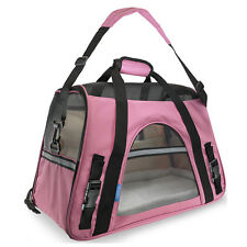 newcomdigi gts Pet Carrier Soft Sided Large Cat Dog Comfort Blue/ Pink Bag