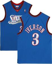Allen Iverson 76ers Signed Blue 1999-2000 Hardwood Classic Jersey & ROY 97 Insc