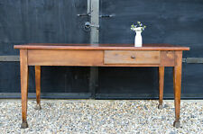 Antique 19C French Country Farmhouse Kitchen Dining Table with 2 Drawers