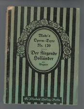 Mode´s Operntexte Nr. 120 - Der fliegende Holländer von Wagner