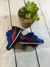Baby Puma Shoes Size 5c Red Blue Adhesive Strap Light Up