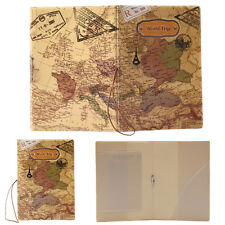 Travel Passport Holder Ticket Document Protector Cover ID Card Case World Map IF