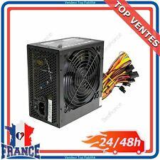 Alimentation PC PSU 500W ATX Avec Ventilateur Silencieux 2 SATA 24 Broches Molex