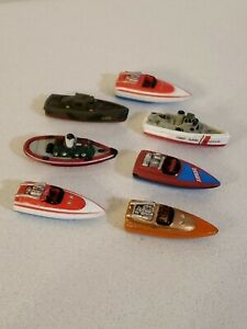 1987 Micro Machines 7 Boat Lot Diecast Toy Vintage Vehicle Ships