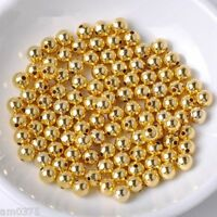 20Pcs New Fashion Authentic 14K Yellow Gold Bead 3mm Lucky Loose Beads For DIY