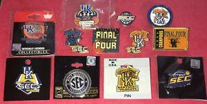 12 SEC Kentucky Basketball Pinbacks, Pins, NCAA, UK Wildcats, Champs Final Four!