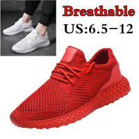 Men's Breathable Sneakers Casual Air Mesh Running Walking Sports Tennis Shoes