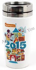 2015 Walt Disney World Parks Icon Mickey Castle Souvenir Travel Tumbler Cup Mug