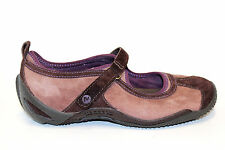 MERRELL Mary Jane Ortho Circuit Brushed Purple Suede Leather Women Shoe 5.5