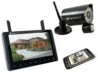 Digital Wireless Home CCTV Security System 720p HD Portable Monitor Recorder