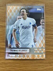 2016-17 Topps UEFA Champions Showcase Thomas Delaney Orange RC Rookie