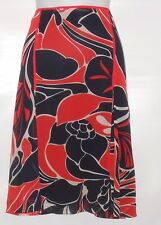 Nine & Company Ladies Chiffon Flounce Skirt Red & Black Ten (10) NWOT