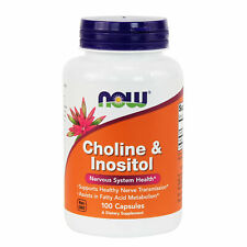 NOW Foods Choline & Inositol 500 mg Capsules Made