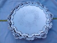 Stunning WALKER HALL Silver Plate Tray Superb Order Large Heavy Smart