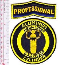 SCUBA Diving USA US Divers Aqua-Lung Professional Aluminum Cylinder Patch Yellow