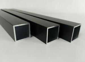 Aluminium Rechteckrohr Quadrat Pulverbeschichtet Schwarz Matt RAL 9005