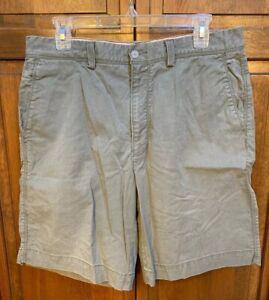 Tommy Bahama Men 32 Shorts Flat Front Green Cotton Tencel Spandex
