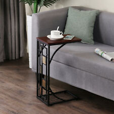 C Sofa Chair Side End Table Chairside Snack Console Accent Tables Laptop Tray