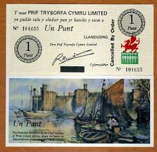 Wales, 1 pound, Caernarvon Castle, ND, P-NL, Cancelled By Order, hand signed UNC
