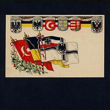 Patriotika DEUTSCHLAND TÜRKEI ÖSTERREICH-UNGARN PREUSSEN Patriotism * AK um 1915