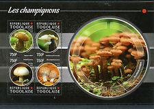 Togo 2015 MNH Mushrooms 4v M/S Flora Champignons Boletus