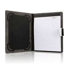 10'' Business Tablet Notebook Padfolio Pad Holder Case Card Pen Organizer Black